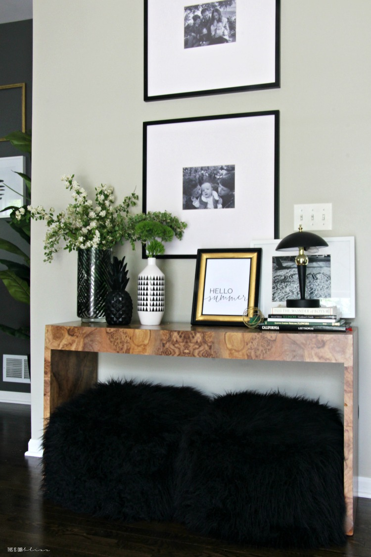 Simple Summer decorating ideas - console table styling ...