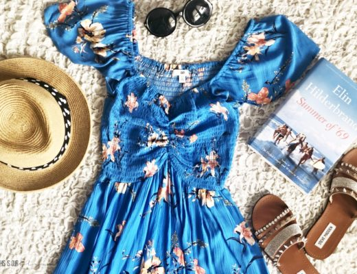 What I'm packing for vacation this Summer - beach read and blue dress - This is our Bliss