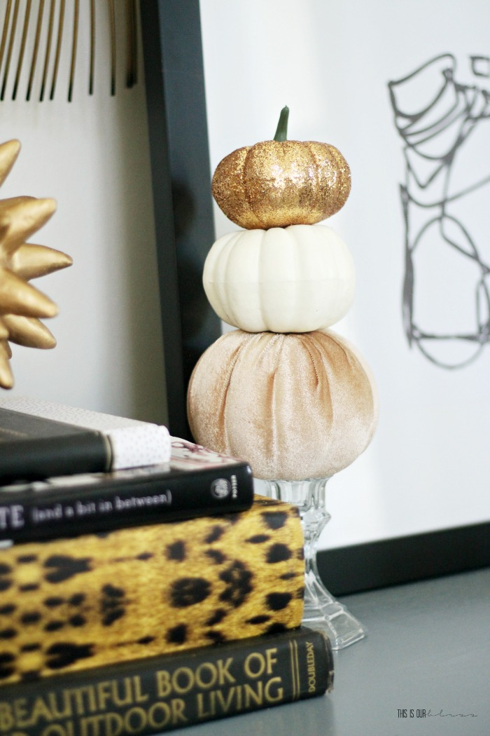 How To Make A Darling Mini Pumpkin Topiary For Under 5 This Is Our Bliss