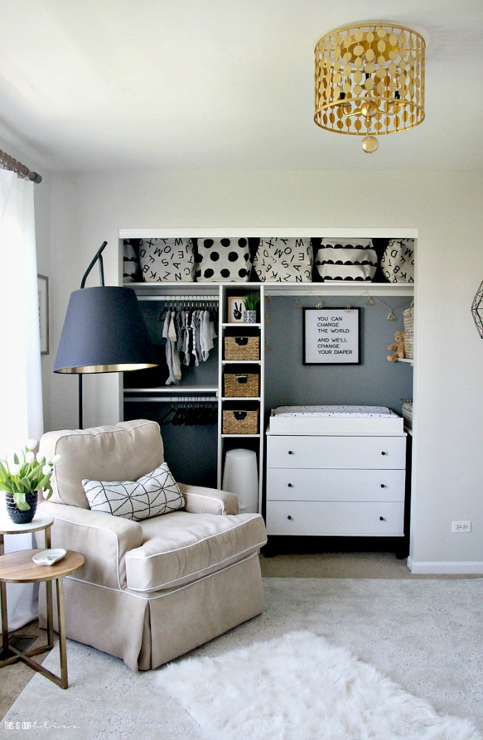 Cute Affordable Nursery Closet Storage Organization This Is Our Bliss