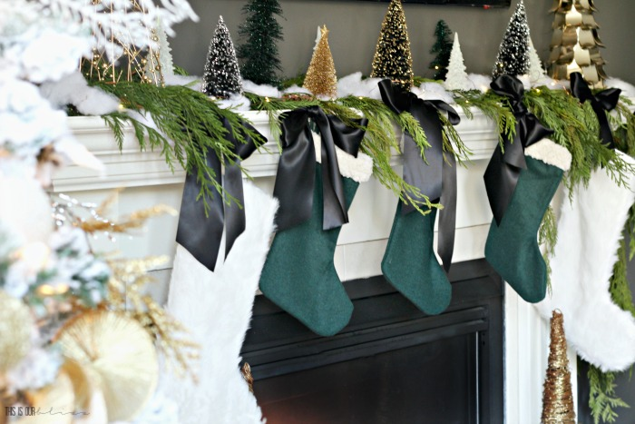 How To Decorate A Simple And Elegant Christmas Mantel This