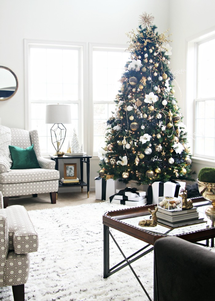 a simple  u0026 elegant christmas living room