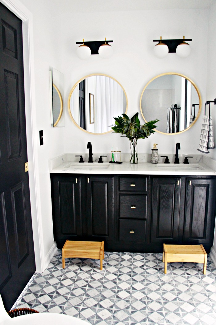 Neutral Modern Shared Boys Bathroom Reveal This Is Our Bliss